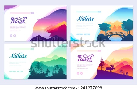 nature vector brochure cards
