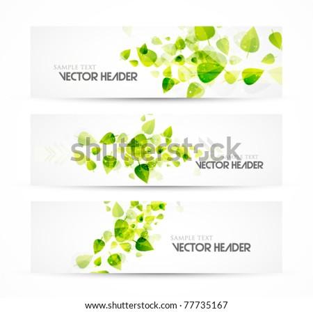 Nature vector headers