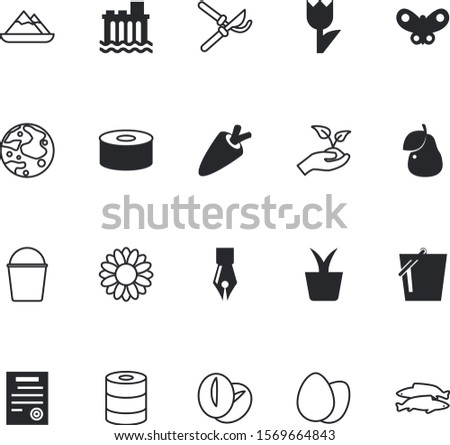 nature vector icon set such as