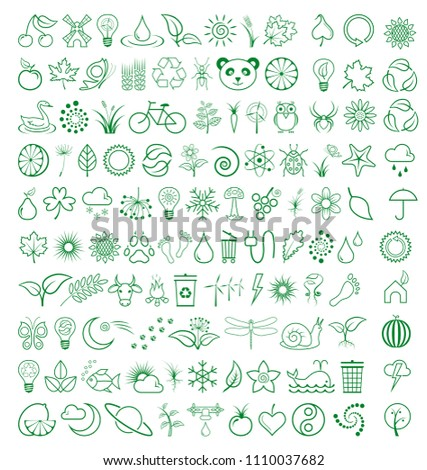 Stock Photo Nature Vector Icons 108