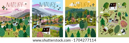 nature vector illustration of