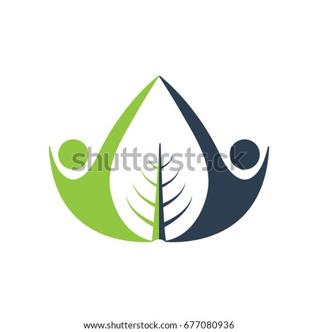 nature wellness vector logo