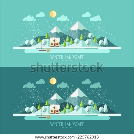 nature   winter landscape