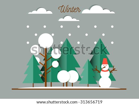 nature  winter landscape with