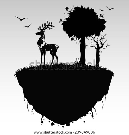 nature with deer