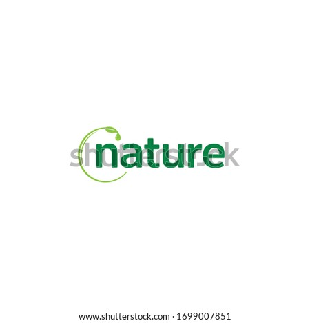 Nature Wordmark logo / icon design. Message us on Facebook / Instagram if you need our help to put your business name into the design, link on our profile