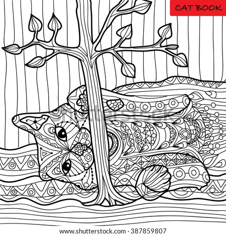naughty cat   coloring book for