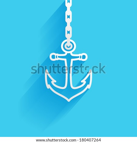 nautical  anchor  flat icon
