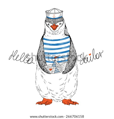 nautical animal illustration