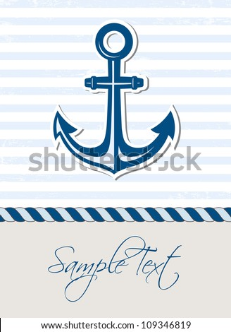 Nautical background with anchor