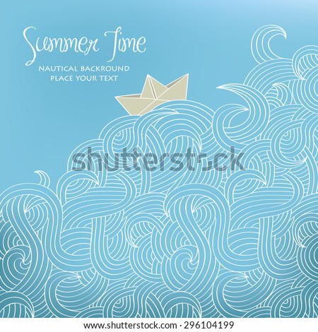 nautical background with paper