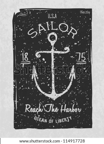 Nautical Badges And Labels