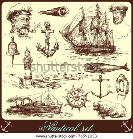 nautical elements-hand drawn collection