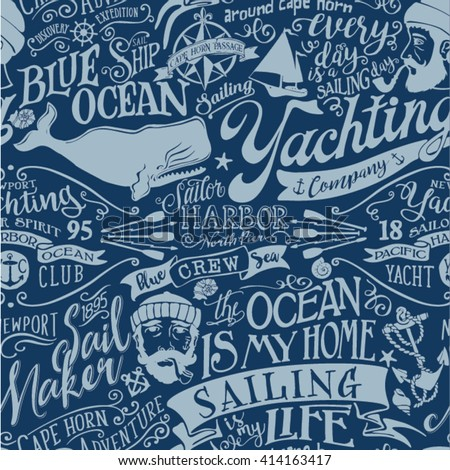 nautical elements vector...