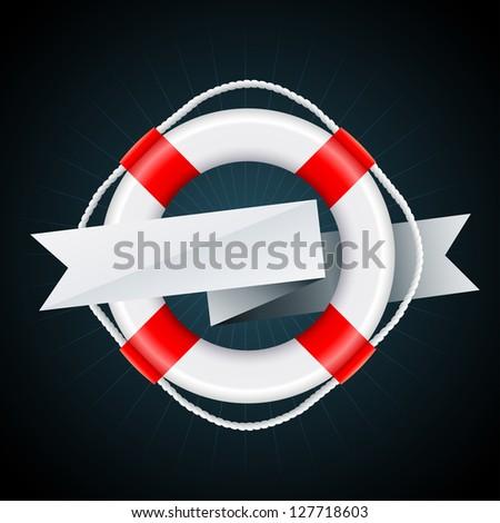 nautical emblem vector eps8