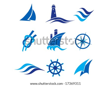 Nautical logos and icons
