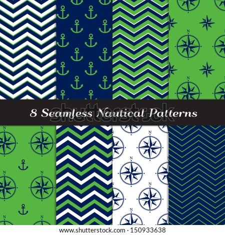 Anchor Chevron Wallpaper White chevron and anchors