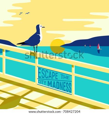 nautical poster concept blue