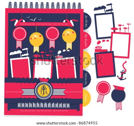 nautical scrapbook element (11) - stock vector