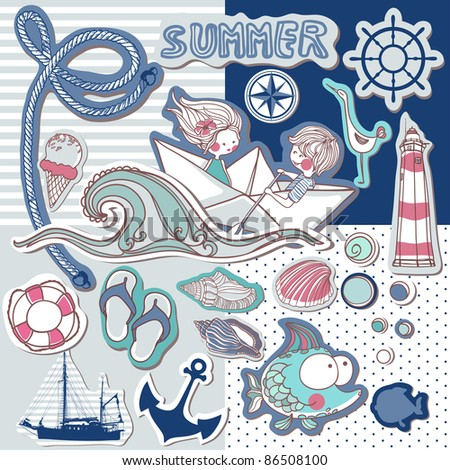 nautical scrapbook set