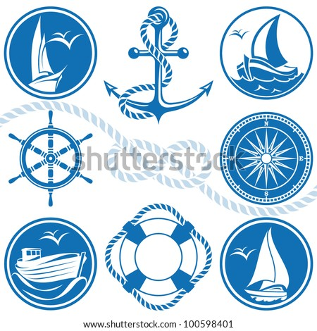 Nautical symbols and icons