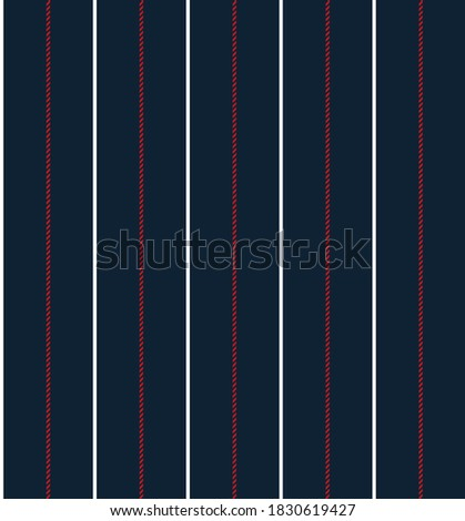 Nautical textured stripe seamless pattern with Navy blue, Red and White colors vertical parallel stripes.Vector abstract background.