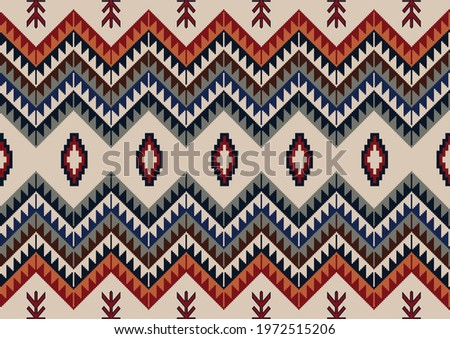 Navajo tribal vector seamless pattern. Native Indian ornament. Ethnic South Western decor style. Mexican rug. Сток-фото ©