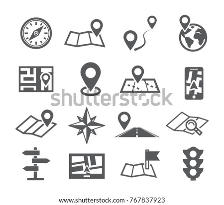 Navigation and Map icons