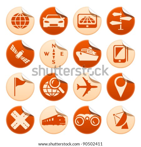 Navigation and transport stickers