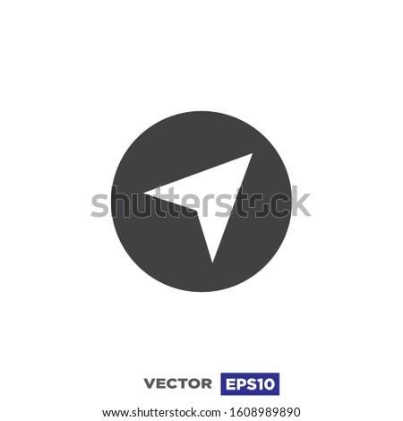 Navigation Arrow Icon Flat Design Illustration