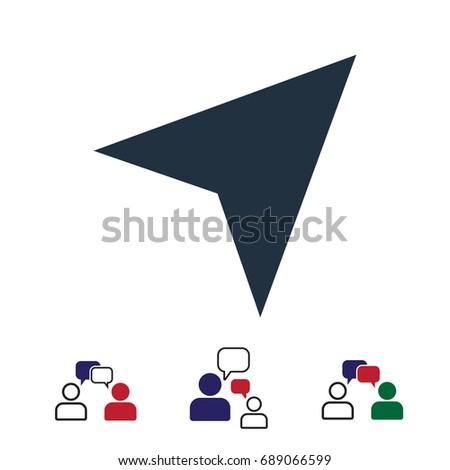 navigation Arrow icon, stock vector illustration flat design style