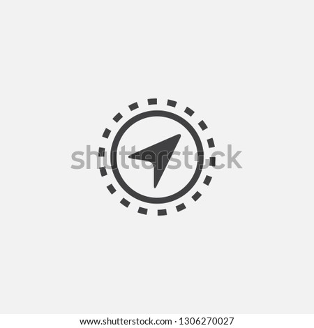 Navigation base icon. Simple sign illustration. Navigation symbol design. Can be used for web, print and mobile