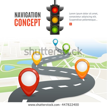 navigation concept with traffic
