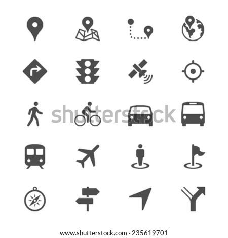 navigation flat icons