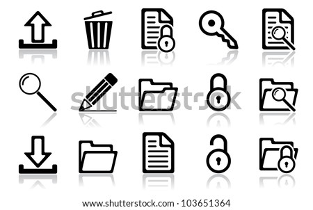 Navigation icon set. Vector illustration of different interface web icons