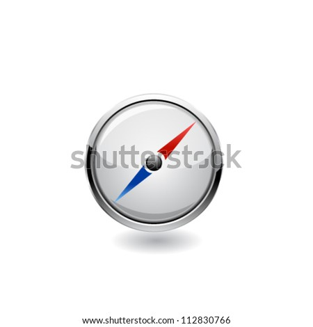Navigation icon. Vector