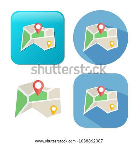 navigation icon - vector map marker icon - location pin - gps symbol