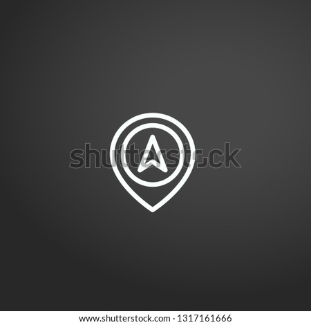 Navigation linear vector icon. Modern outline Navigation logo concept on grey background from Maps And Navigation collection. Suitable for use on web apps, mobile apps and print media.