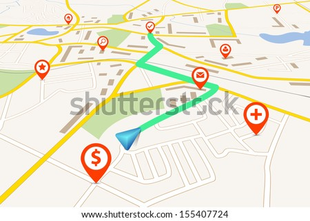 navigation map stock vector illustration shutterstock