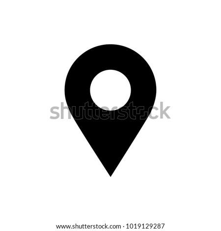 navigation pin vector icon