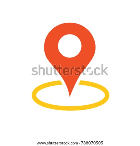 navigation pin - vector symbol - map location