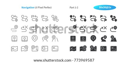 Navigation UI Pixel Perfect Well-crafted Vector Thin Line And Solid Icons 30 2x Grid for Web Graphics and Apps. Simple Minimal Pictogram Part 1-2 #773969587