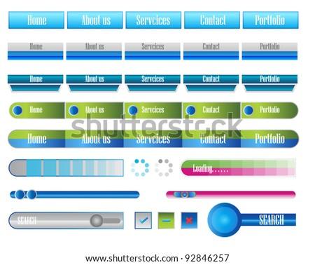 navigation web menu with progress bar