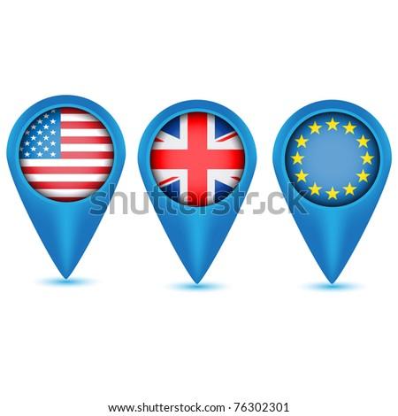 Navigational icons.Vector