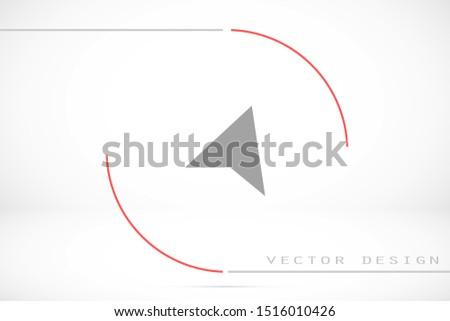 Navigator vector icon. Navigator for ustroystvami icon. Navigator for roads icon.