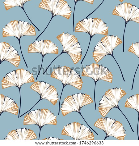 navy and mustered vector seamless pattern on blue background Stock foto ©