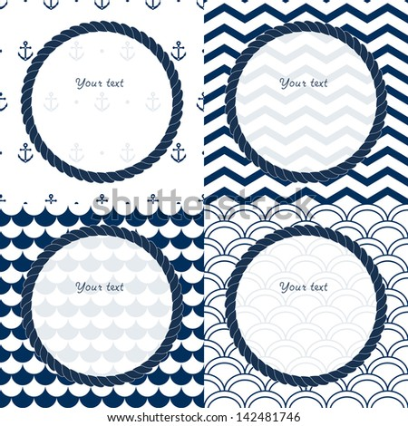 Anchor Chevron Wallpaper Frames set on chevron,