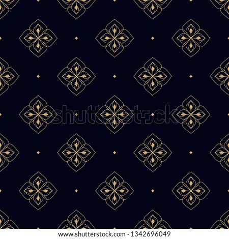 navy blue background ditzy