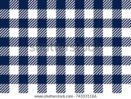 Navy Blue Gingham Tablecloth Seamless Pattern