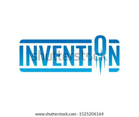 navy blue invention logo. vector invention logo